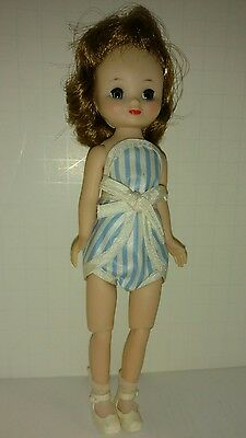 "8"" vintage Betsy McCall in romper. Pristine . High color"
