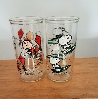 Snoopy and Charlie Brown Jelly jar Glasses