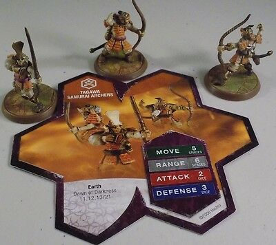 HeroscapeTagawa Samurai Archers With Card Heroscape Dawn of Darkness