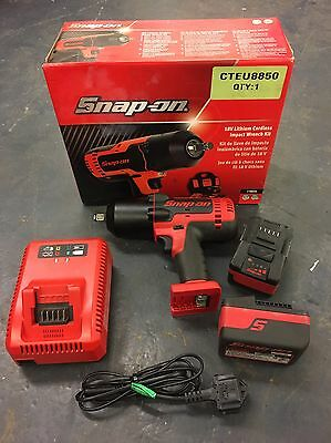 """Snap-On Impact Wrench, Cordless, MonsterLithium, 18V, 1/2"""" Drive, CT8850 CTB8185"""