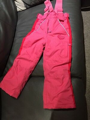 Girls Pink Snow / Skiing Trousers Age 4-5