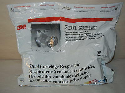 3M 5201 Medium Organic Vapor Dual Cartridge Respirator