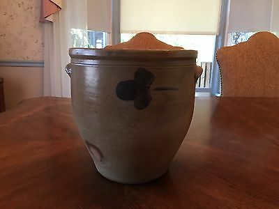 Antique decorated Stoneware Cream Pot 1 1/2 gal.  made in Baltimore, Maryland