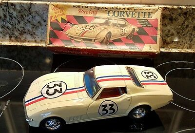 Vintage Mystery Bump N Go Racing Corvette  w Box Battery Operated Toy