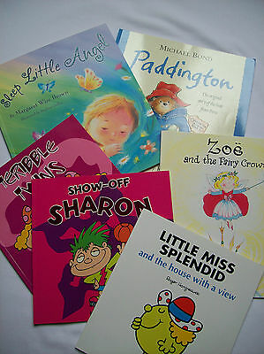 Collection Of 6 Childrens Paper Back Picture Books Age 3 - 5 Years