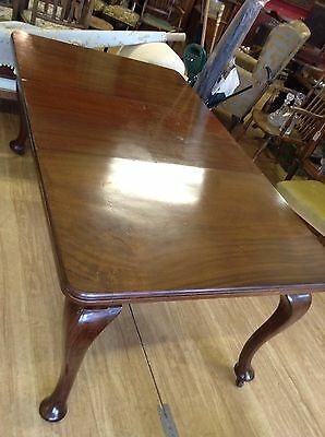 Mahogany Dining Table With Queen Anne Style Legs Beautiful Edwardian Wind-out