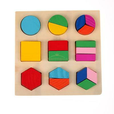 Baby Kids Wooden Puzzle Toys Early Educational Learning Toy Geometry Blocks Gift