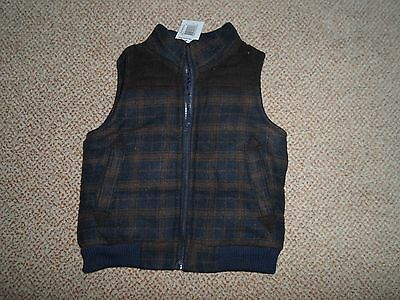 Matalan Baby Boys Check Gilet Bodywarmer Jacket Size 12-18 new with Tags