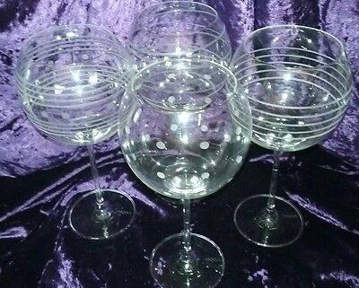 Mikasa Cheers Balloon Wine Crystal  Glasses