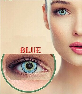 Contact Lenses BLUE Colorful Contacts Colored Cosmetic AZUL