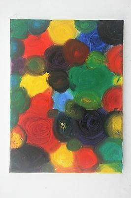 Original Contemporary Oil Painting, Swirling Colours