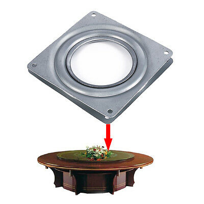 4 Inch Square Rotating Bearing Lazy Susan Turntable Swivel Plate Display Base