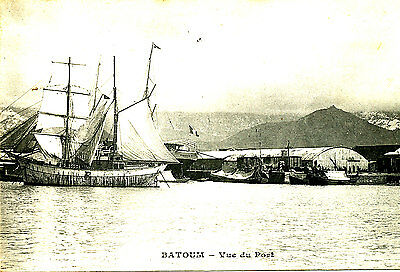 RUSSIA - Georgia - Postcard of Ships in the Port of Batoum - Posted 1914
