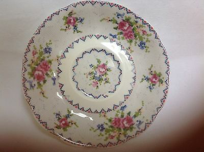 "�� Vintage Royal Albert "" Petit Point China"" Bone China  Saucer"