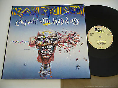 "IRON MAIDEN. Maxi single 12"" Can I play with madness Portugal press"