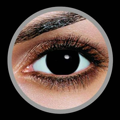 Anime Contact Lenses PURE BLACK Colorful Contacts Colored Cosmetic NEGRO