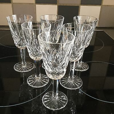 Waterford Cut Glass Crystal Sherry Glasses X 6