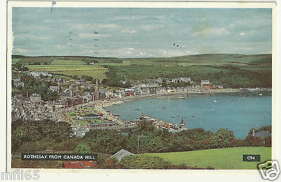 Old Postcard (1959) - Rothesay from Canada Hill - Posted