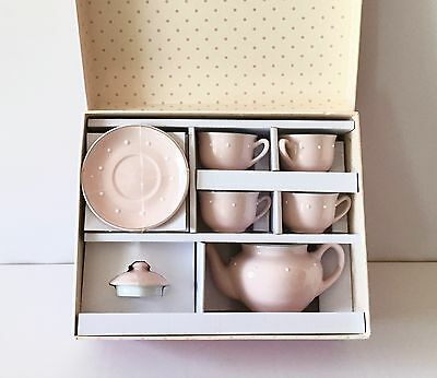 POTTERY BARN Pink Ceramic 10-pc. Classic Tea Set, PINK, NEW IN BOX