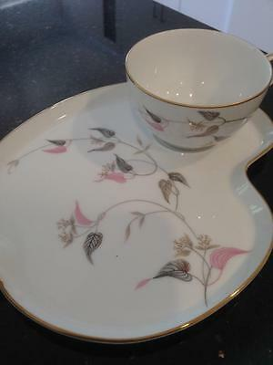 Noritake Arden vintage Cup and Plate Breakfast or Tennis set.