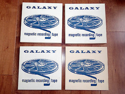 """Lot of 4 Reel to Reel Tapes 7"""" Used Once, Great Condition (Lot #3)"""
