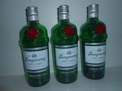TANQUERAY LONDON DRY GIN EMPTY BOTTLES ( X 3 ) 70cl -PERFECT see photos