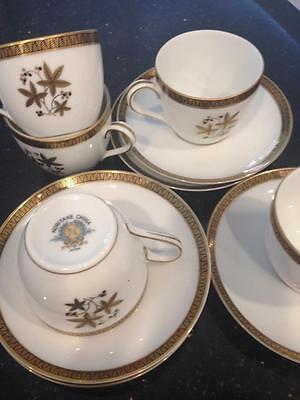 Noritake Goldcoast Vintage Demitasse Duo's x 5.Espresso coffee cups and saucers