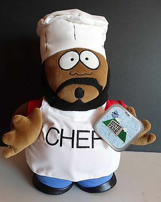 """South Park 14"""" Chef Plush 1998 with hang tag by Fun 4 All Corp."""