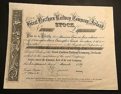 Great Northern Railway Company  Share Certificate