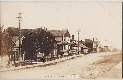 Rp Cobalt Ontario Canada Nickle Street , Real Photo C 1910