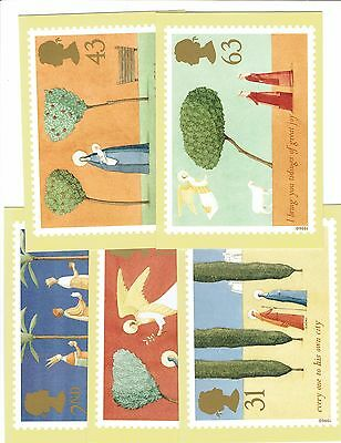 GB 1996, PHQ184, set of 5 Cards, Christmas, Mint Condition. Freepost