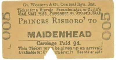 Great Western & Great Central Railways Jnt Ticket Princes Risboro' to Maidenhead