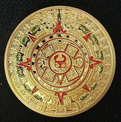 Mayan Aztec Prophecy Calendar Commemorative Coin Art Collection