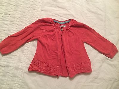Baby Girls Cardigan By Boden Size 6-12 Months