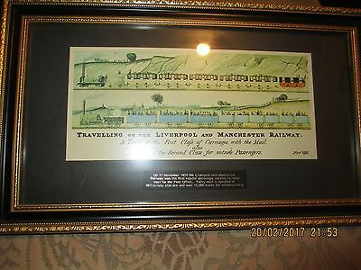 Fancy Framed Print of the Liverpool/Manchester Railway 1831