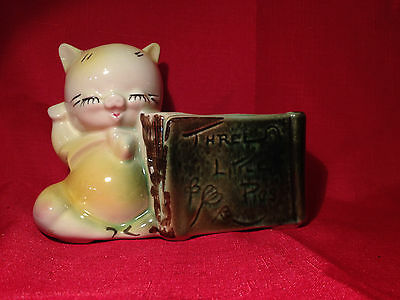 Vintage Ceramic Pottery Planter - A Pig reading TheThree Little Pigs Book Piglet