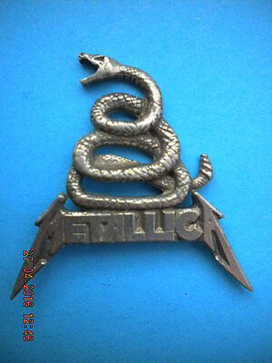 Metallica black album pin badge dont tread on me !