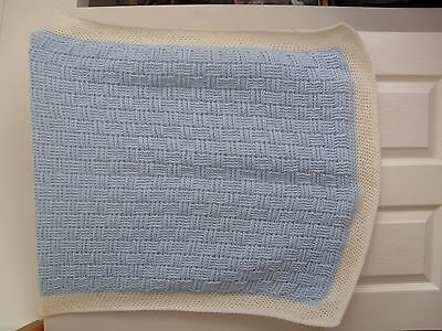 baby boys hand knitted blanket good buy