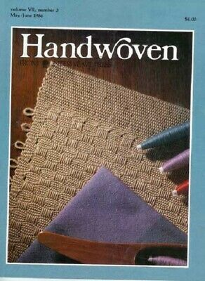 Handwoven magazine may/june 1986: inkle, mats, towels