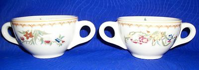 """Lot of 2 Vintage Floral Cups- 6"""" x 3 1/2"""" Marked Old Glory"""