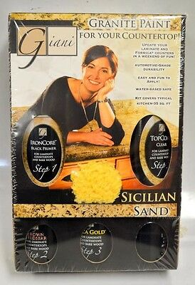 Giani, Granite Paint for your countertop. Sicilian Sand Color - Enough for 35 Sq