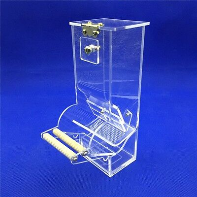 *Automatic Bird Cage Feeder Clear 3mm Acrylic No waste Or Spillage*