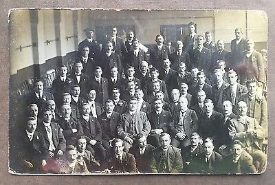 Working Men's Club Manchester Members Club Leicester Real Photo Postcard c1910