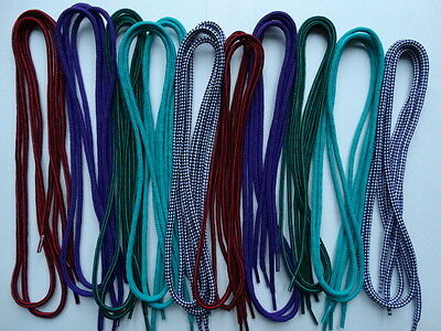 10 pairs 100cm round mixed multi coloured shoe boot trainer laces - job lot E11