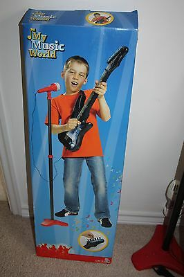 Childs Guitar with Amplifier, Microphone and Stand