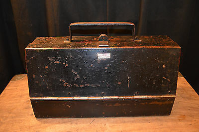 Heavy strong Vintage steel Engineer Tool Box with  drawer storage industrial