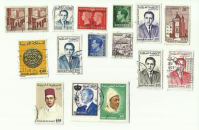 Morocco postage stamps x 16, used