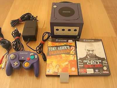 Nintendo Gamecube Console Purple with Controller, Memory Card and Games