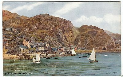 BARMOUTH FROM THE ISLAND - J Salmon - A R Quinton #2229 -  c1930s era postcard