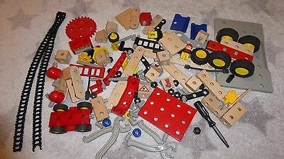 Brio construction set with tools